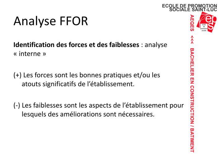 Analyse FFOR