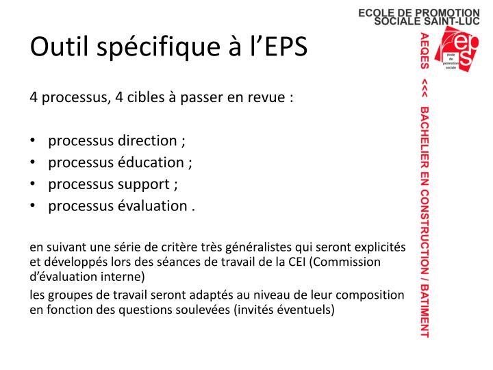 Outil spécifique à l'EPS