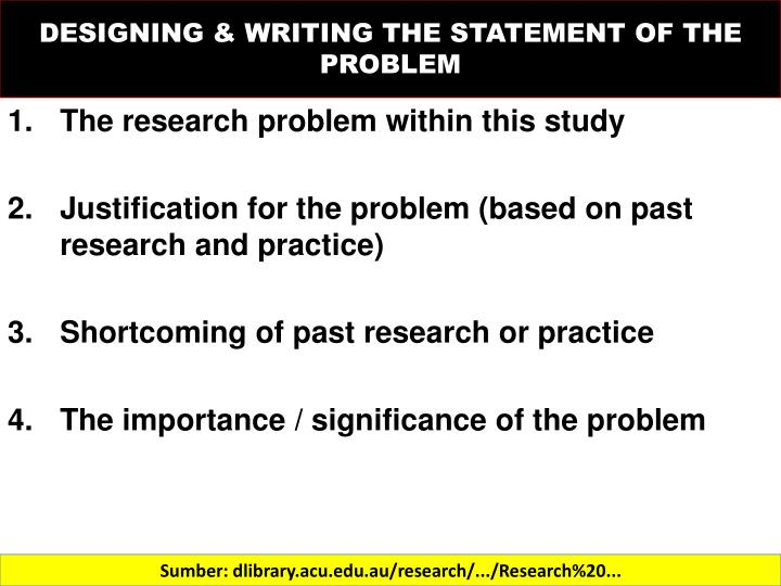 Thesis writing statement of the problem