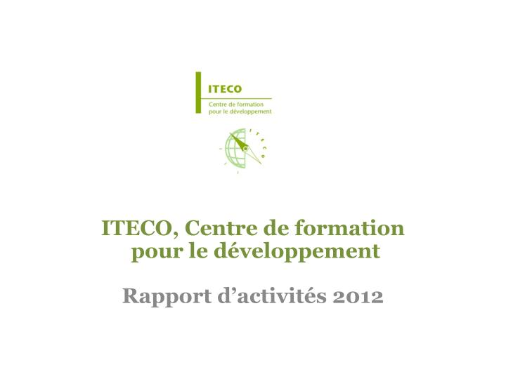 ITECO, Centre de formation