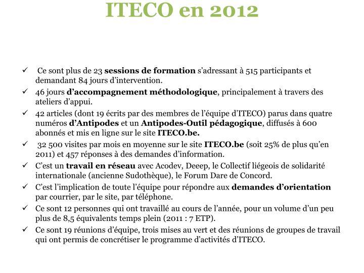 ITECO en 2012