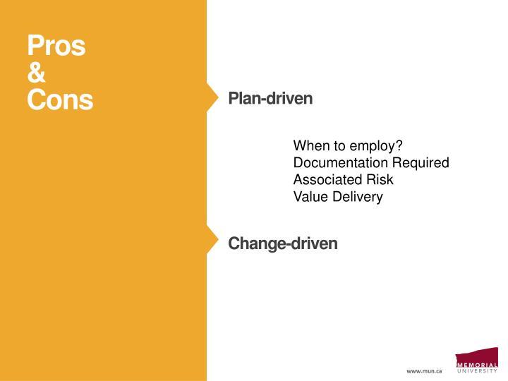 Plan-driven