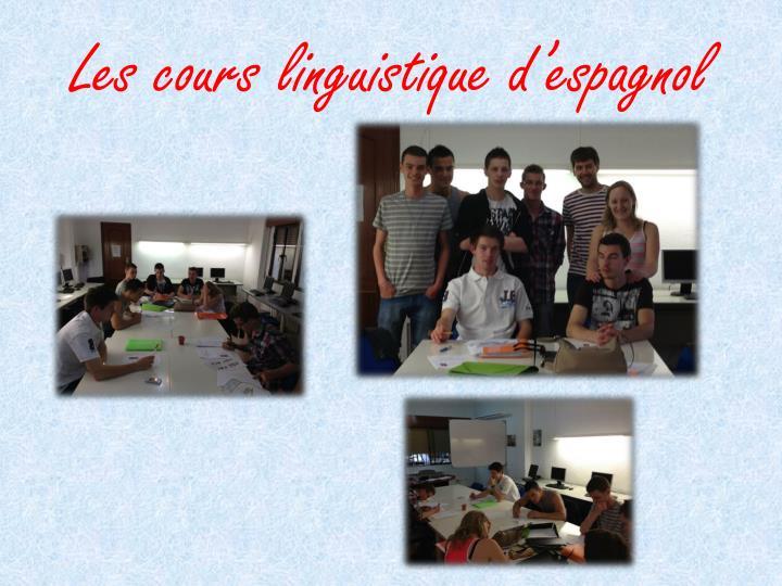 Les cours linguistique d'espagnol