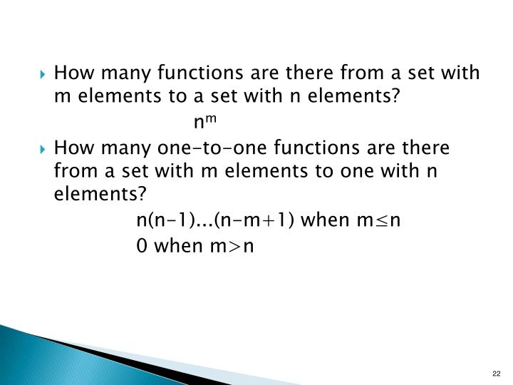 How many functions are there from a set with m elements to a set with n elements?
