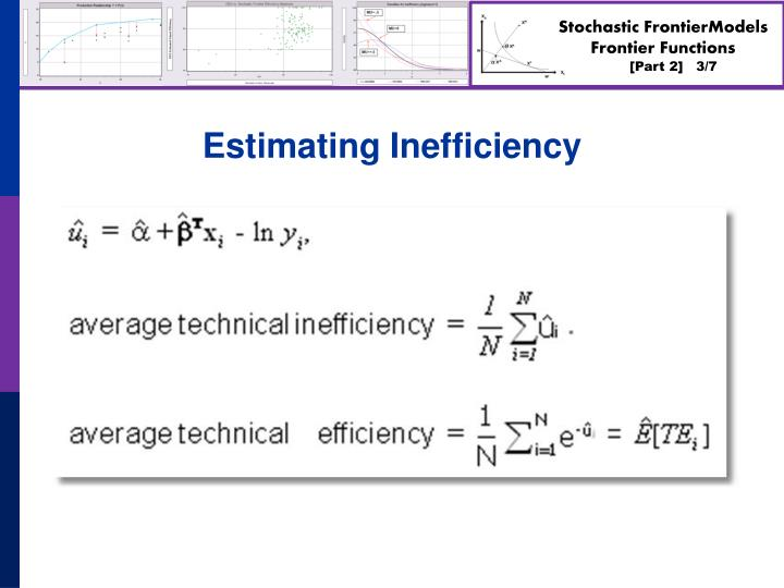 Estimating Inefficiency
