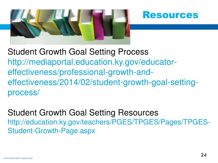 Student Growth Goal Setting Process