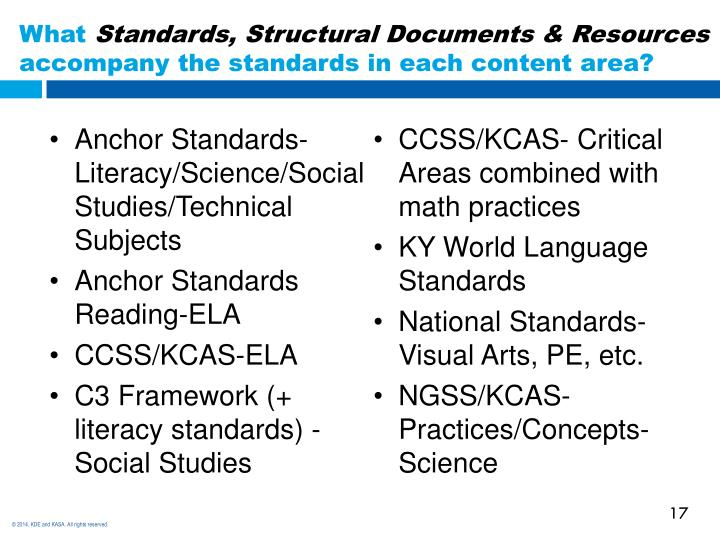 Anchor Standards-Literacy/Science/Social Studies/Technical Subjects