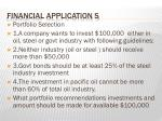 financial application s