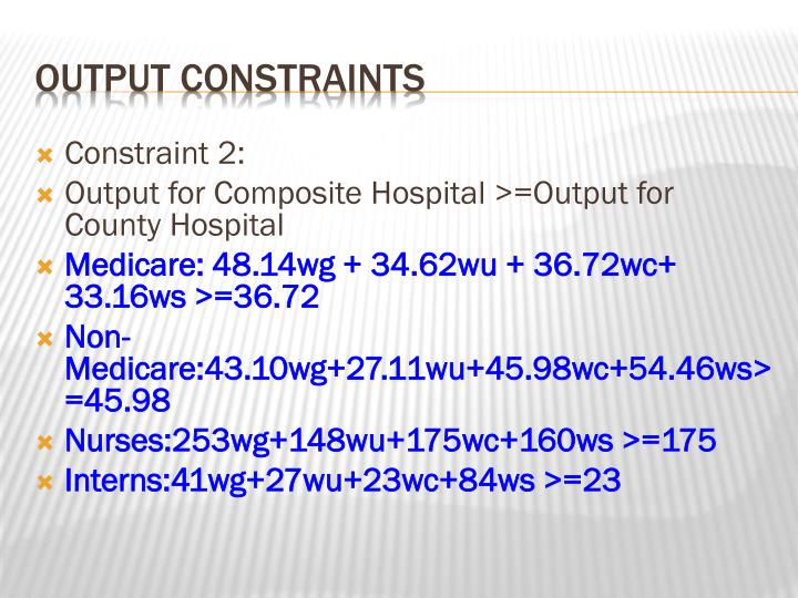 Constraint 2: