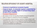 relative efficiency of county hospital