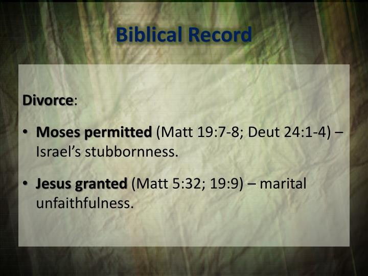 Biblical Record
