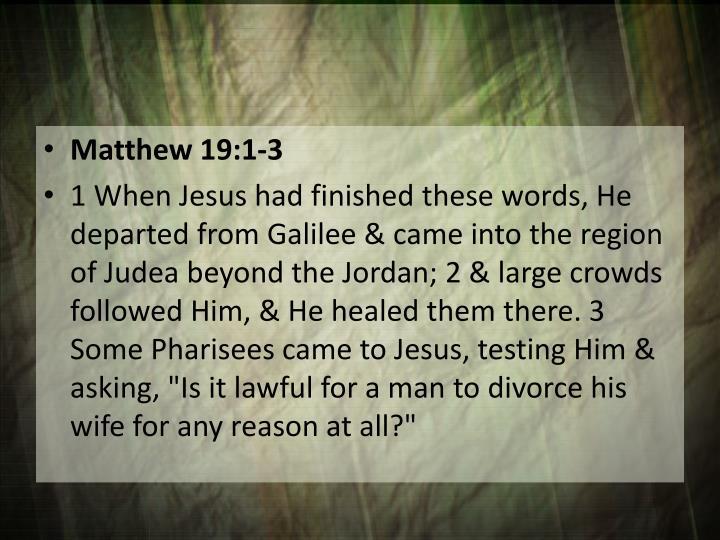 Matthew 19:1-3