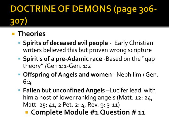 DOCTRINE OF DEMONS (page 306-307)