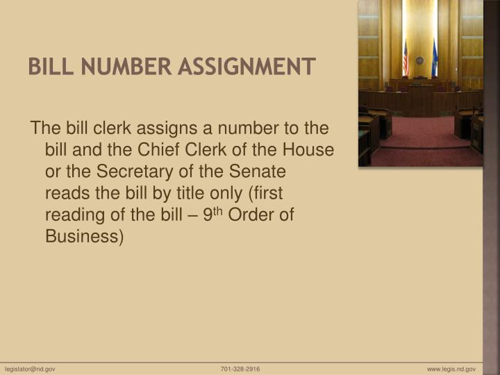 Bill Number Assignment
