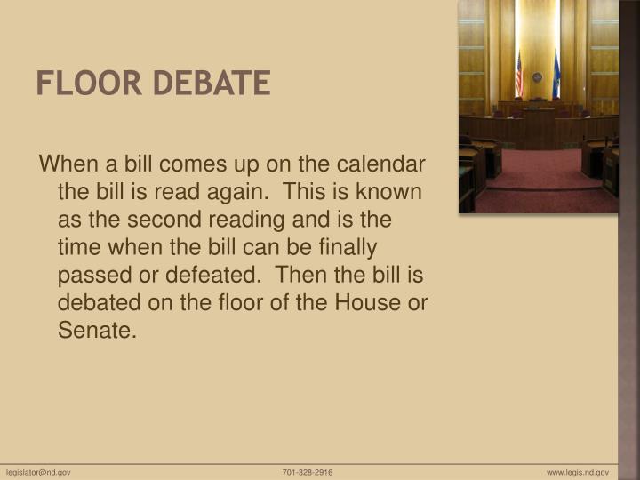 Floor debate