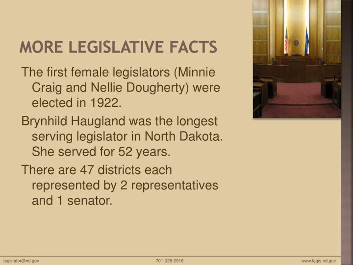More Legislative Facts