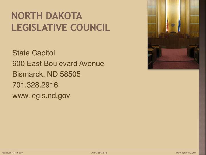 North Dakota Legislative Council
