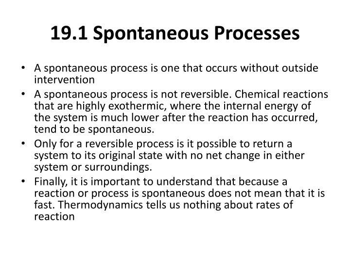 19.1 Spontaneous Processes