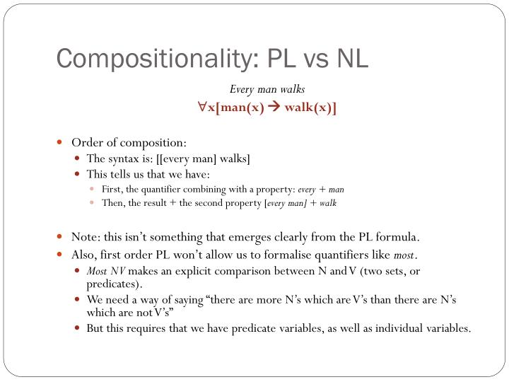 Compositionality: PL