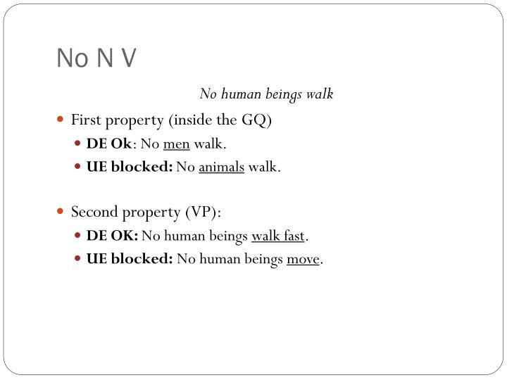 No N V