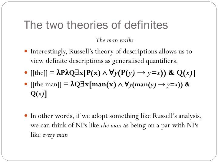 The two theories of