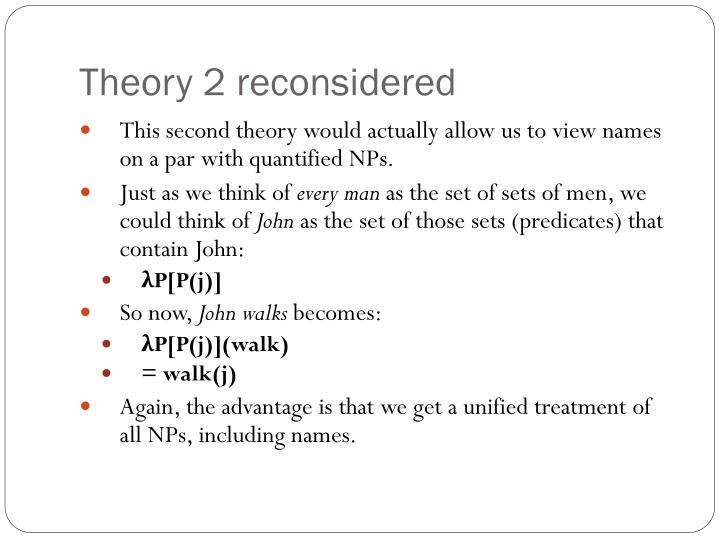 Theory 2 reconsidered