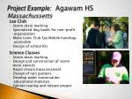 project example agawam hs massachussetts