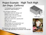 project example high tech high san diego california