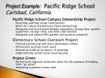 project example pacific ridge school carlsbad california