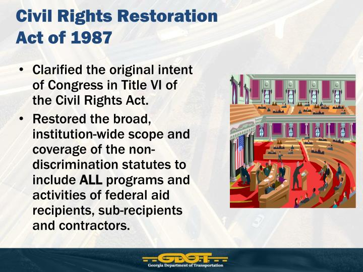 Civil Rights Restoration Act of 1987