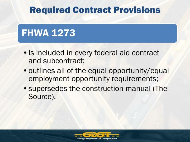 Required Contract Provisions