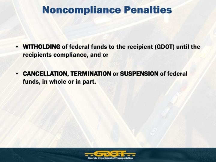 Noncompliance Penalties