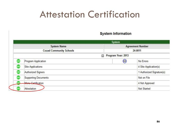 Attestation Certification