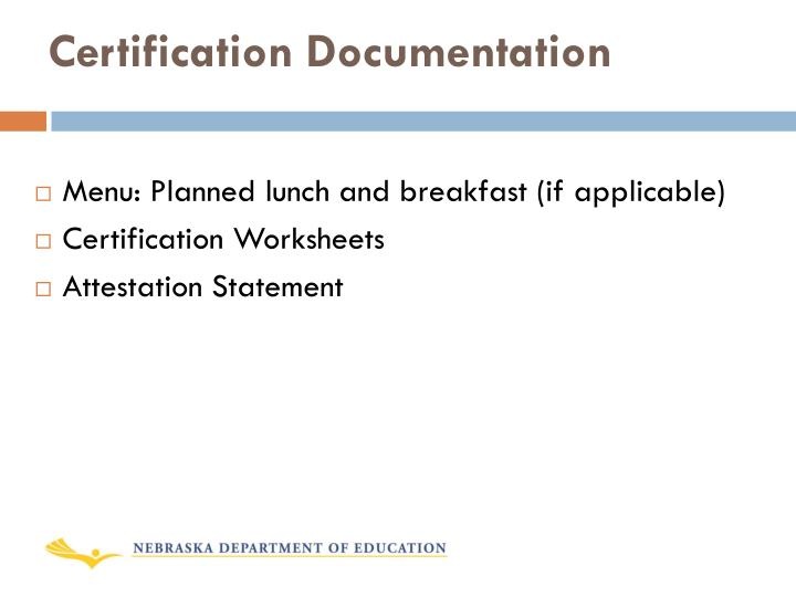Certification Documentation