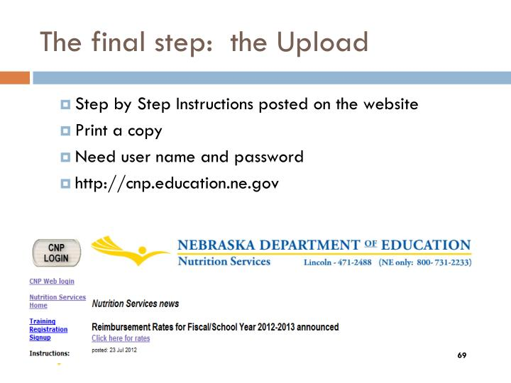 The final step: