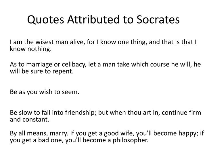 Quotes Attributed to Socrates