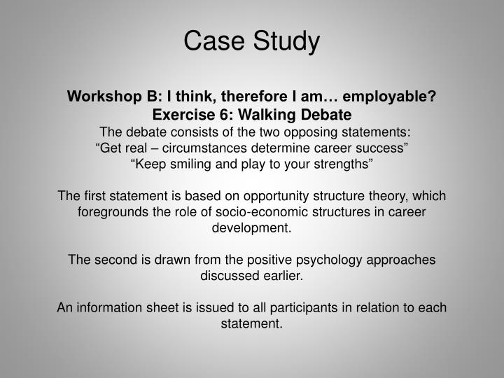 Workshop B: I think, therefore I am… employable?