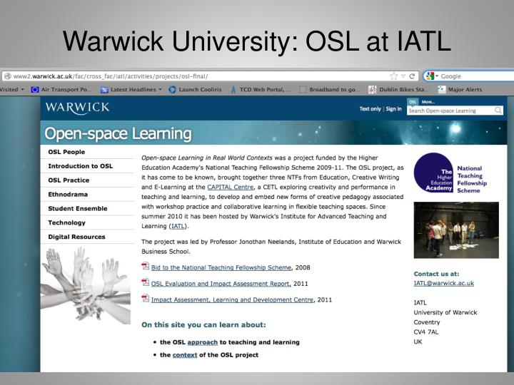Warwick University: OSL at IATL