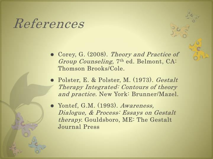 awareness dialogue essay gestalt process therapy This item: awareness, dialogue and process: essays on gestalt therapy by gary m yontef paperback $3978 ships when available in.