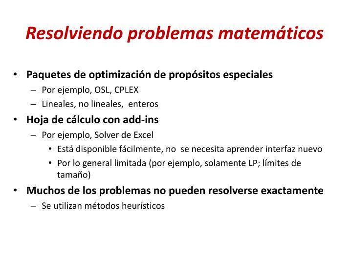 Resolviendo problemas matemáticos