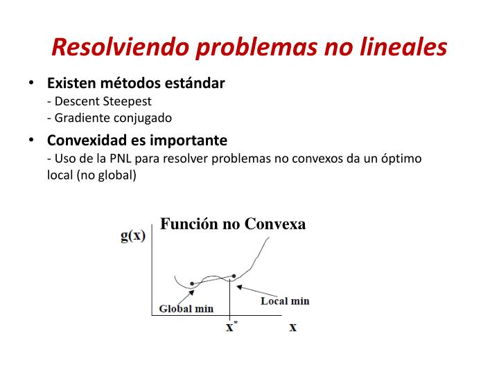 Resolviendo problemas no lineales