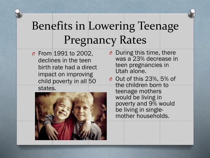Benefits in Lowering Teenage Pregnancy Rates