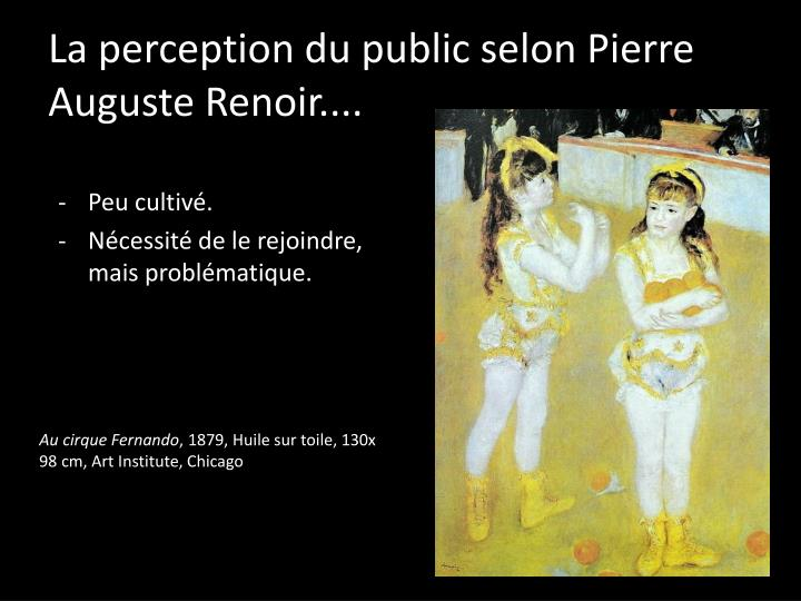 La perception du public selon pierre auguste renoir