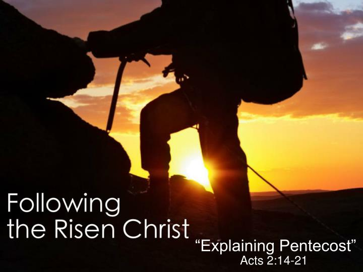 Encounter with the risen christ