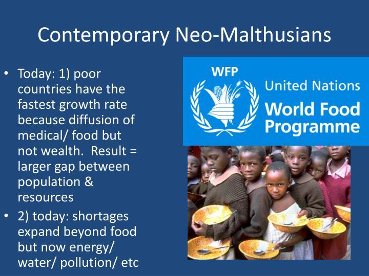 Contemporary Neo-Malthusians