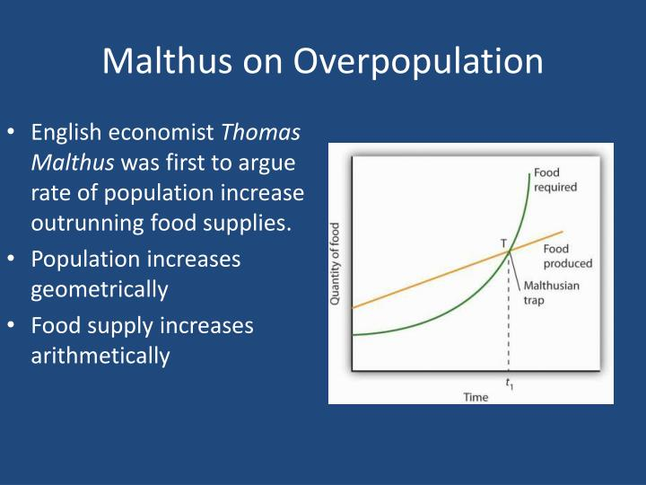 Malthus on overpopulation