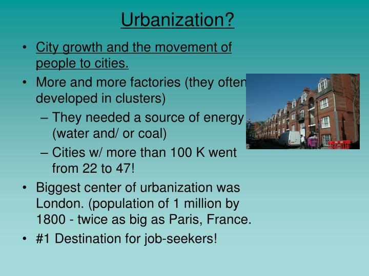 Urbanization?