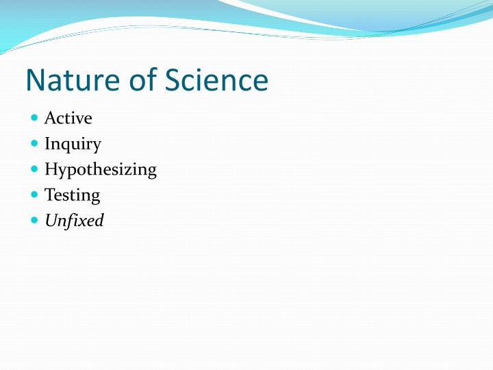 Nature of Science
