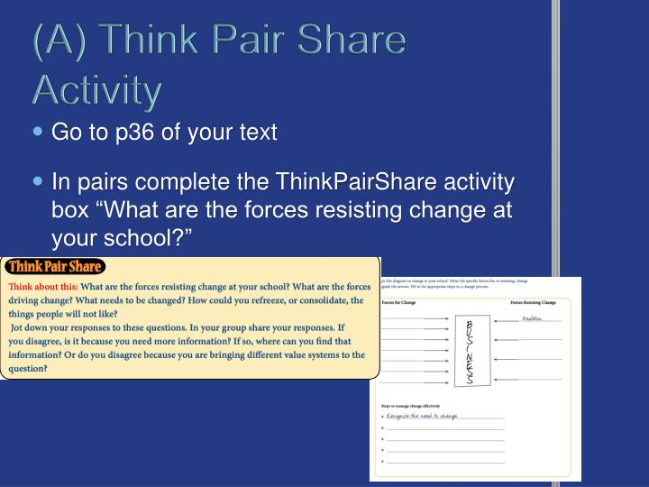 (A) Think Pair Share Activity