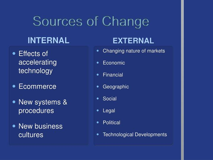 Sources of Change